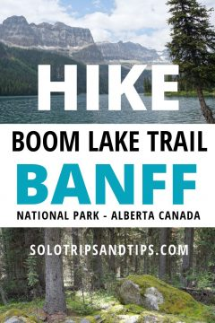 Hike Boom Lake Trail Banff National Park in Alberta Canada