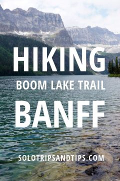Hiking Boom Lake Trail Banff
