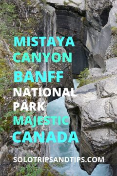 Mistaya Canyon Banff National Park Majestic Canada
