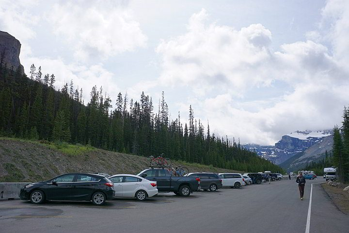 Mistaya Canyon parking lot
