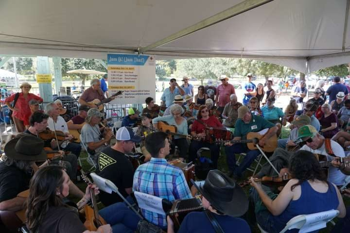 Sheryl Cormier and family music jam at Festival Acadiens et Creoles in Lafayette LAcadiens et Creoles in Lafayette LA