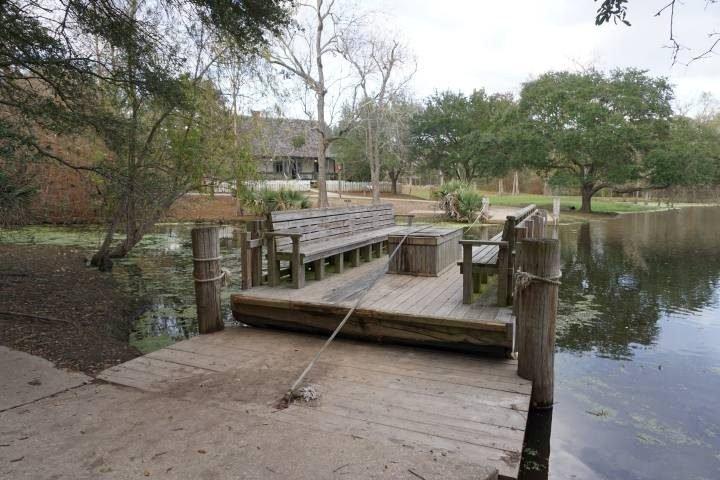 Le Petit Bayou Ferry at Vermilionville history museum in Lafayette LA