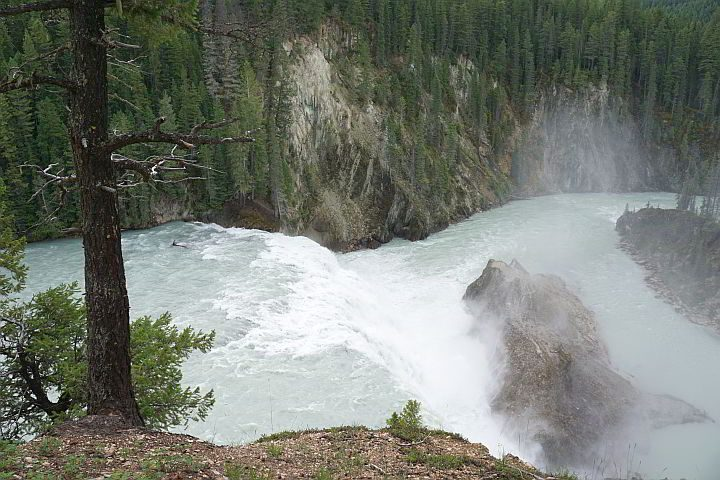 View of Wapta Falls BC from above