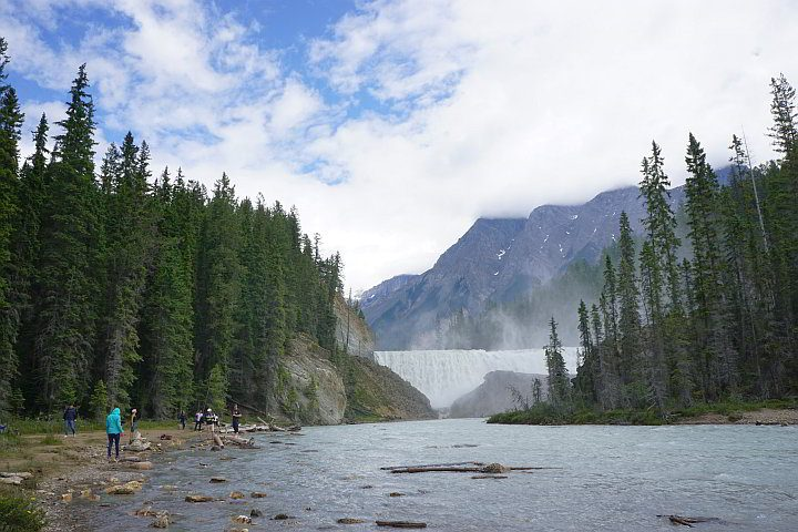 Wapta Falls at Kicking Horse River BC