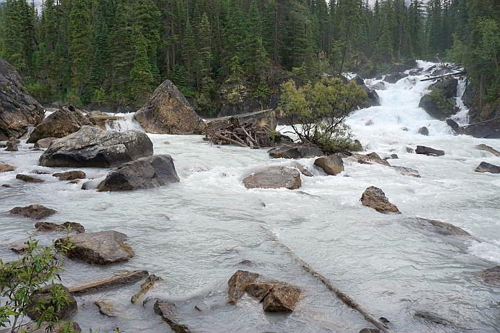 Yoho National Park where Yoho and Kicking Horse rivers meet