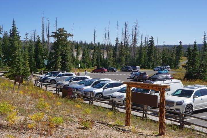 Cedar Breaks Utah parking lot
