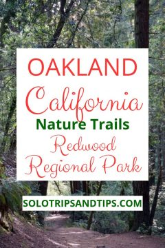 Oakland California nature trails Redwood Regional Park