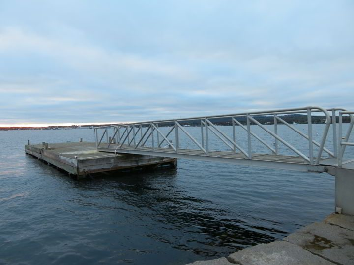 Rockland Breakwater dock by Lighthouse