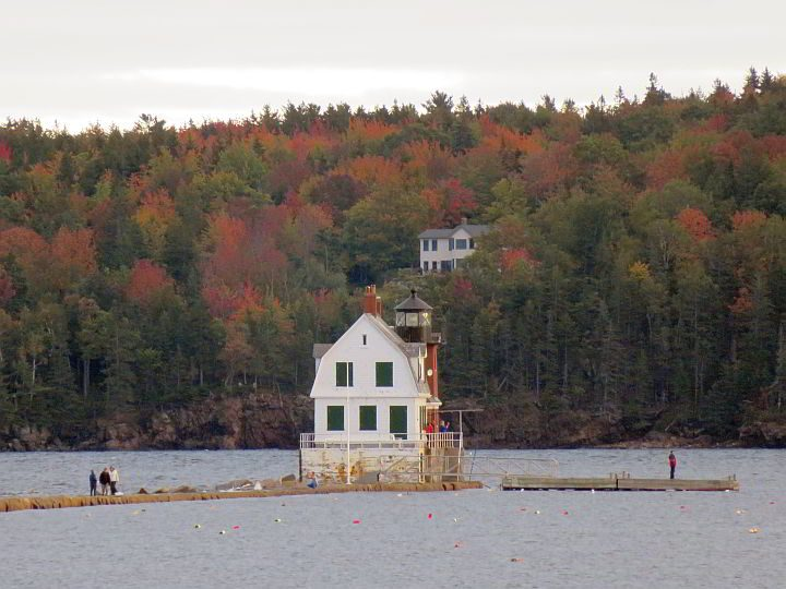 Rockland Maine Breakwater Lighthouse Autumn