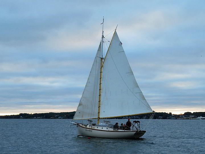 Sailboat Rockland Maine USA