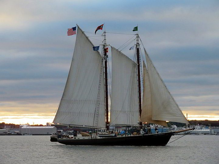Tall ship Maine USA