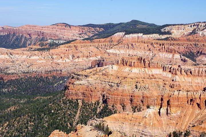 Sandstone layers Cedar Breaks southern Utah