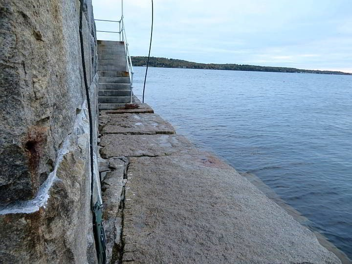 Stairs to Rockland Breakwater Lighthouse
