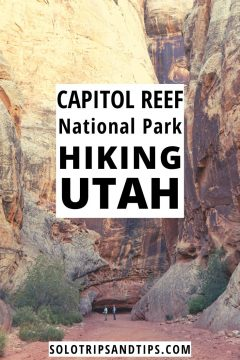 Capitol Reef National Park Hiking Utah