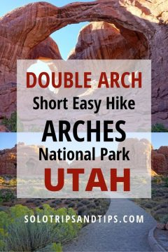 Double Arch short easy hike Arches National Park Utah