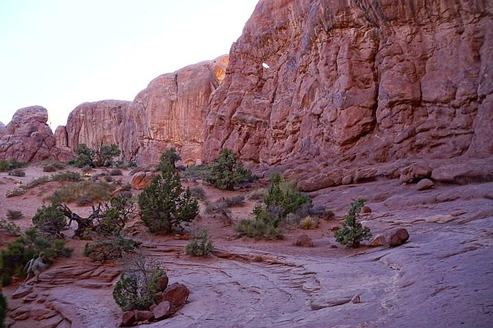Double Arch trail Moab Utah