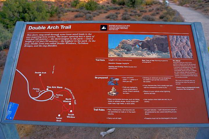 Double Arch trail map and info