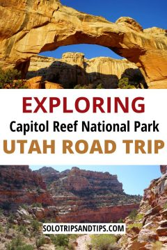 Exploring Capitol Reef National Park Utah Road Trip