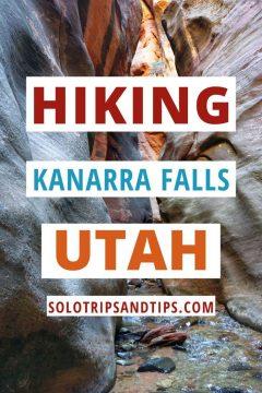 Hiking Kanarra Falls Utah SoloTripsAndTips.com