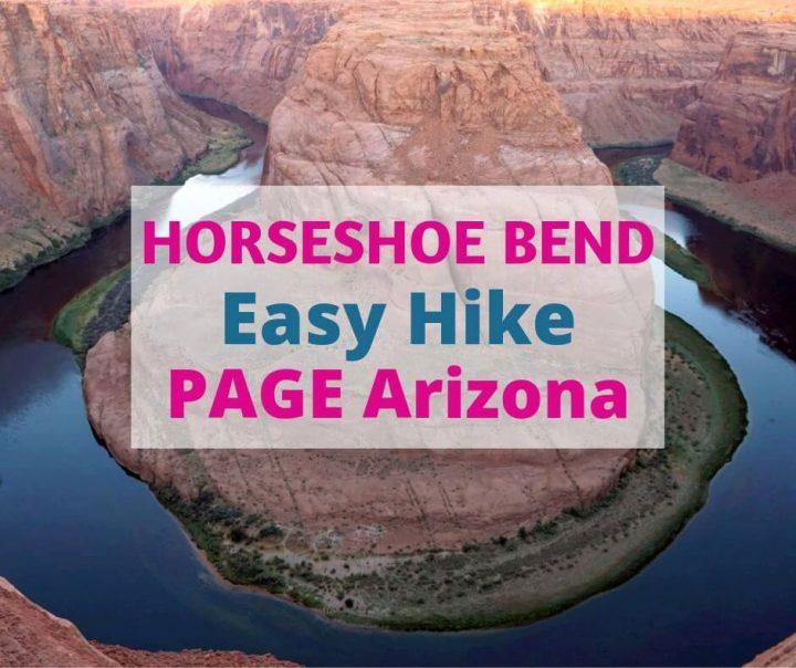 Horseshoe Bend Easy Hike Page Arizona