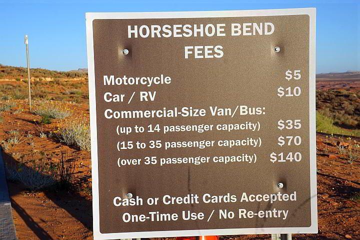 Horseshoe Bend Fees