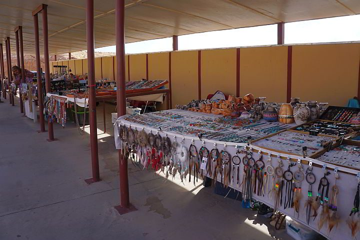 Navajo jewelry and crafts for sale at Navajo Bridge