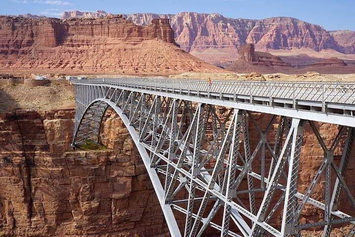 Navajo pedestrian bridge over Colorado River AZ
