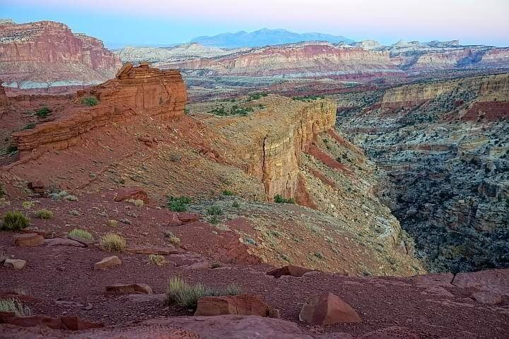 Sunset Point scenic rocky landscape atCapitol Reef Utah
