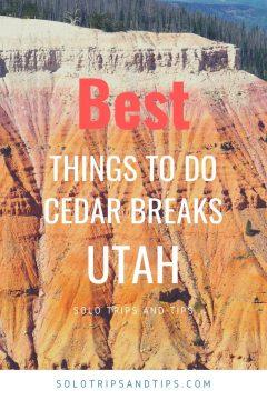 Best things to do Cedar Breaks Utah