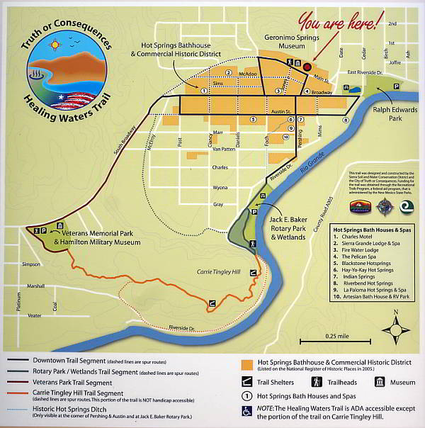 Healing Waters Trail map - Truth or Consequences New Mexico