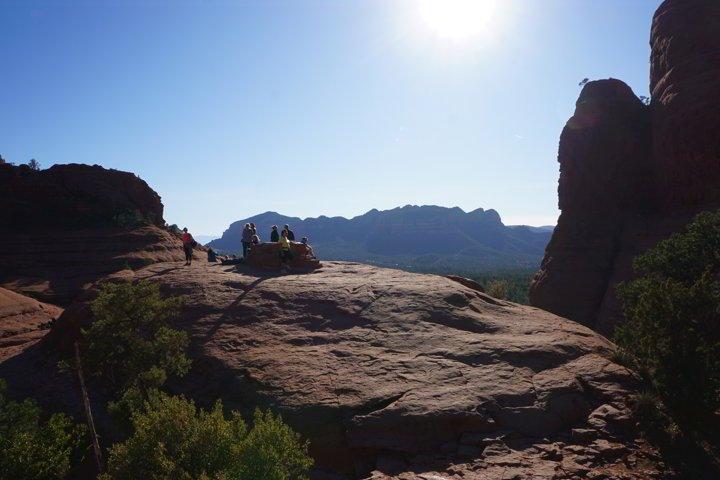 People enjoy the Little Horse Trail Summit Sedona AZ