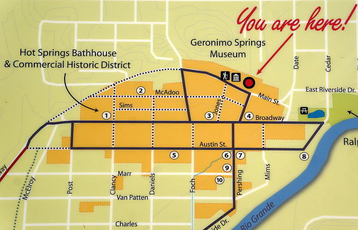 Map of Hot Springs Spas Truth or Consequences