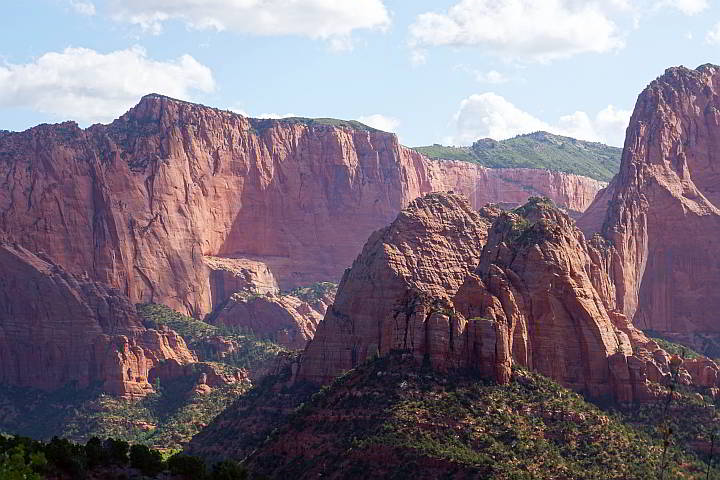 Beautiful red rock at Kolob Canyons Zion National Park
