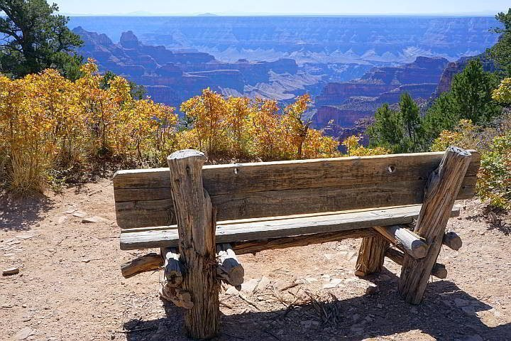 North Rim Grand Canyon Arizona with fall colors