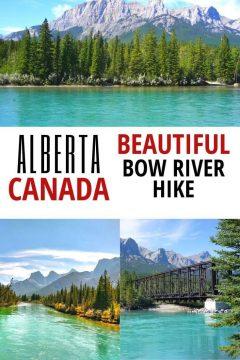 Alberta Canada Beautiful Bow River Hike