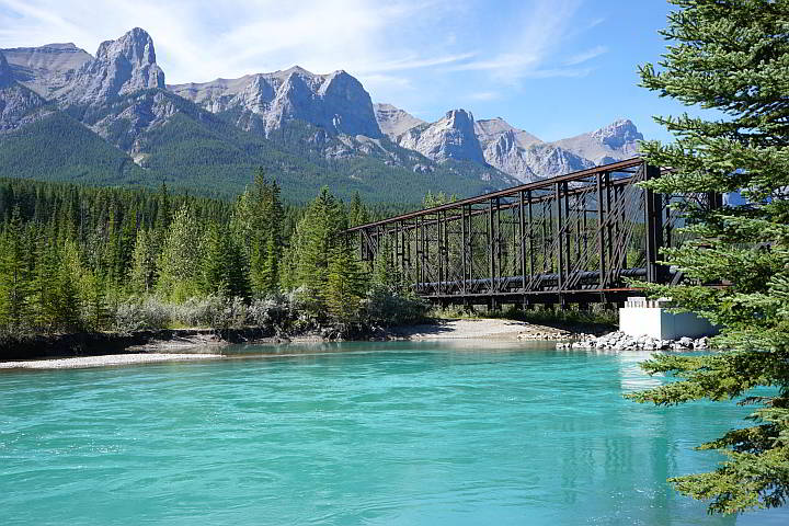 Canmore Engine Bridge over Bow River