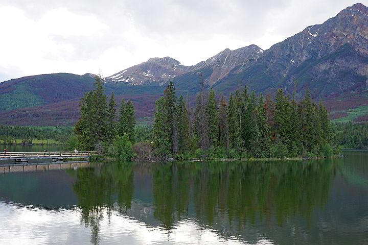Pyramid Island at Pyramid Lake Jasper National Park