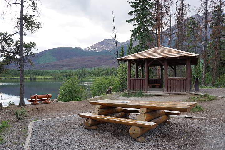 Pyramid Lake picnic area Jasper