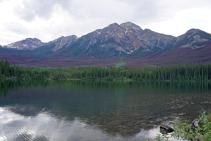 Pyramid Mountain at Pyramid Lake Jasper AB