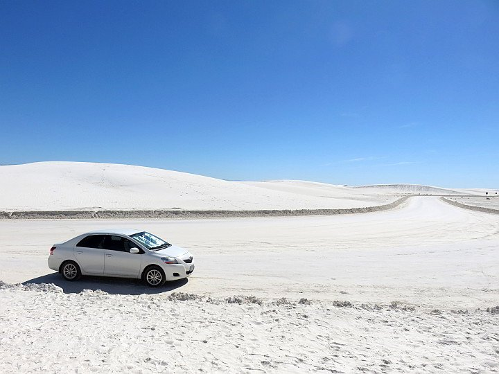 Roads at White Sands National Park