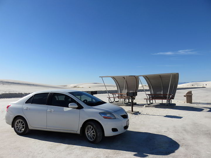 Shaded rest area White Sands NM