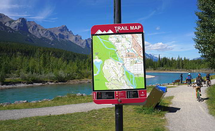 Spur Line Trail Canmore Alberta Canada