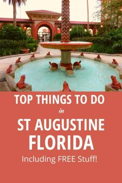 Top Things to do in St Augustine Florida Including Free Stuff