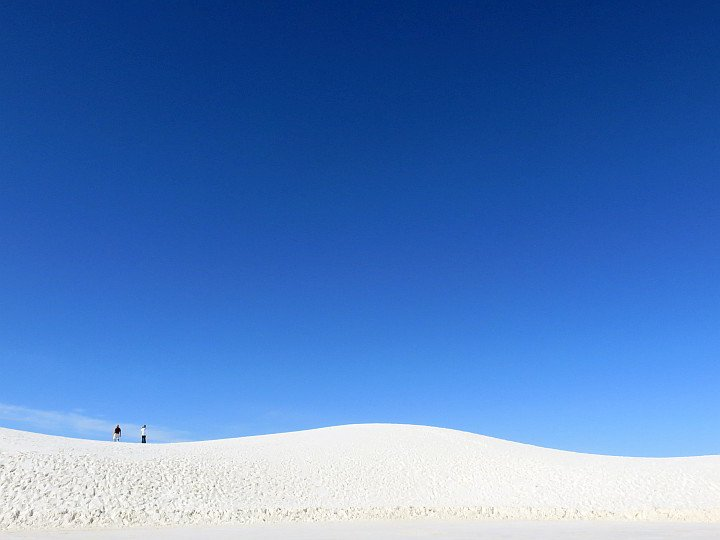 Tourists at White Sands National Park