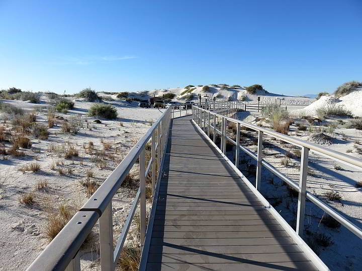 White Sands boardwalk New Mexico