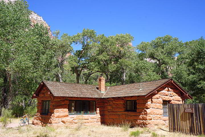 Stone cabin at Zion National Park