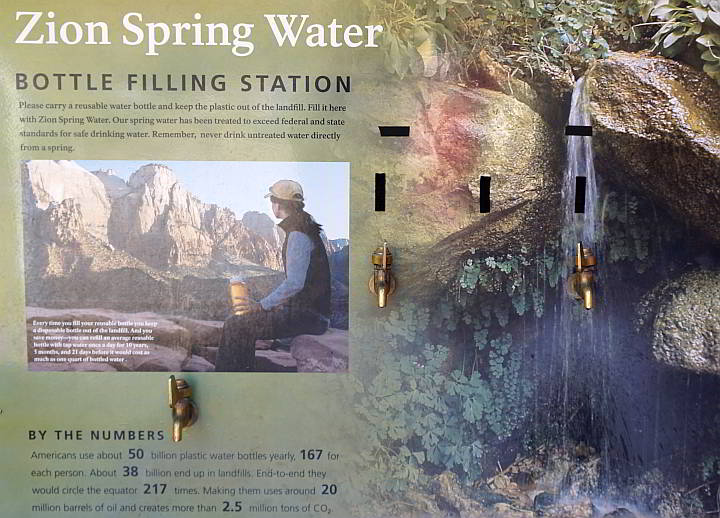 Zion water bottle filling stations