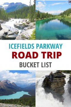 Icefields Parkway Road Trip bucket list