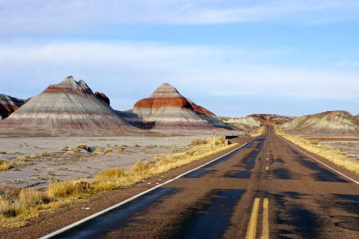 Painted Desert Road Trip including the Teepees rock formations