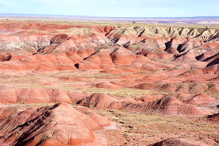 Colorful rock formations at Painted Desert United States